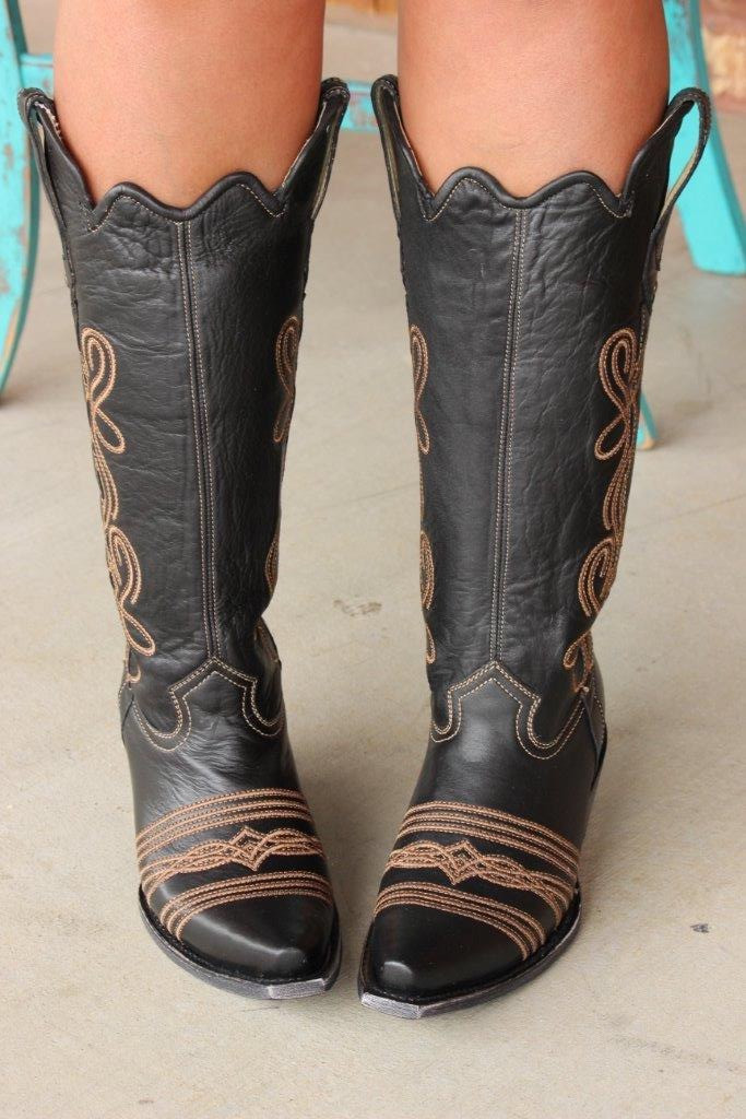Corral Black Embroidery Tall Top Boot G1392 Main Picture