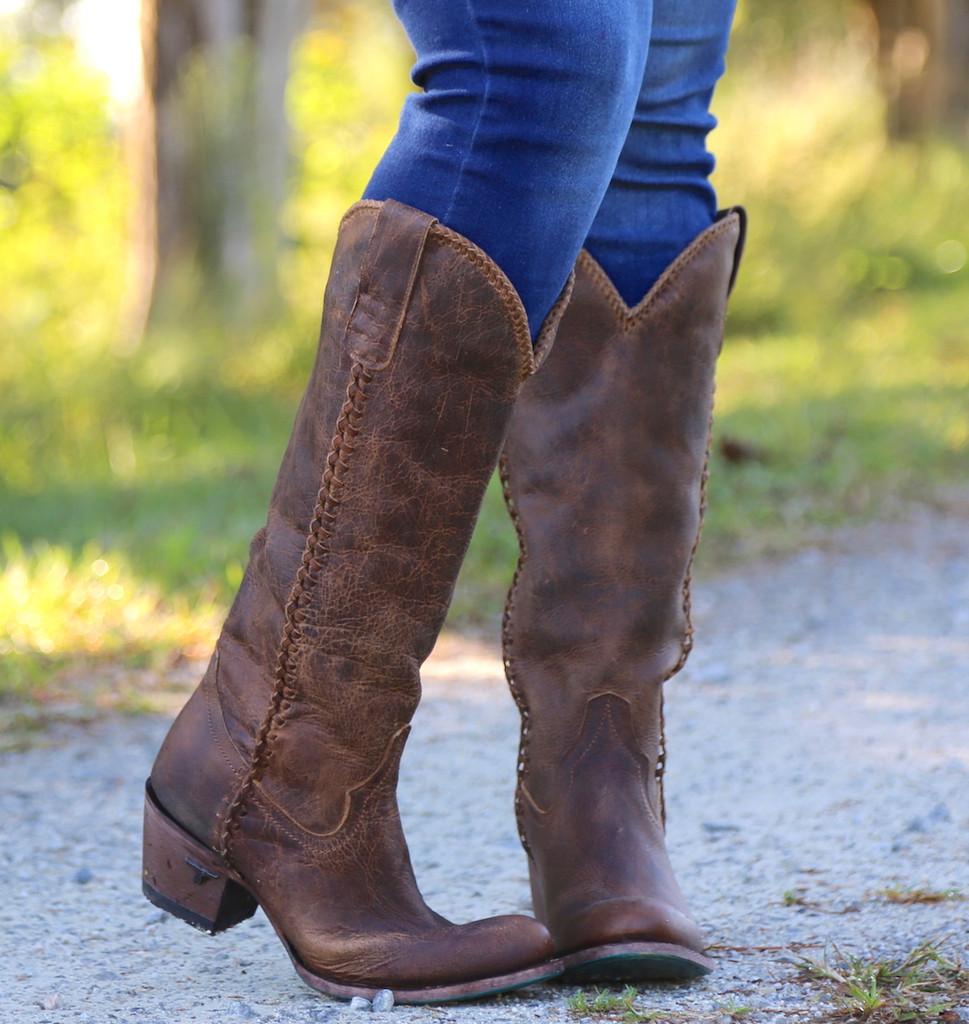 Lane Plain Jane Brown Boots LB0350A Toe