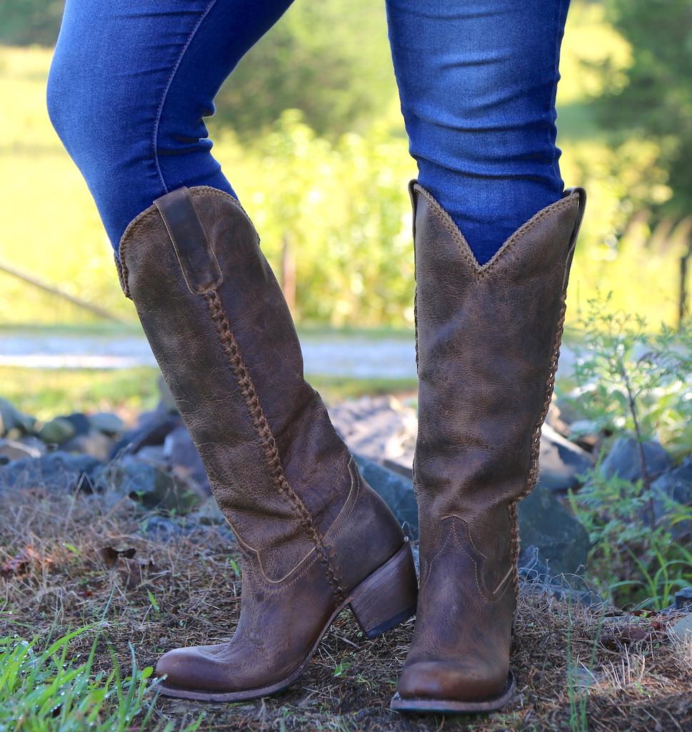 Lane Plain Jane Brown Boots LB0350A Front