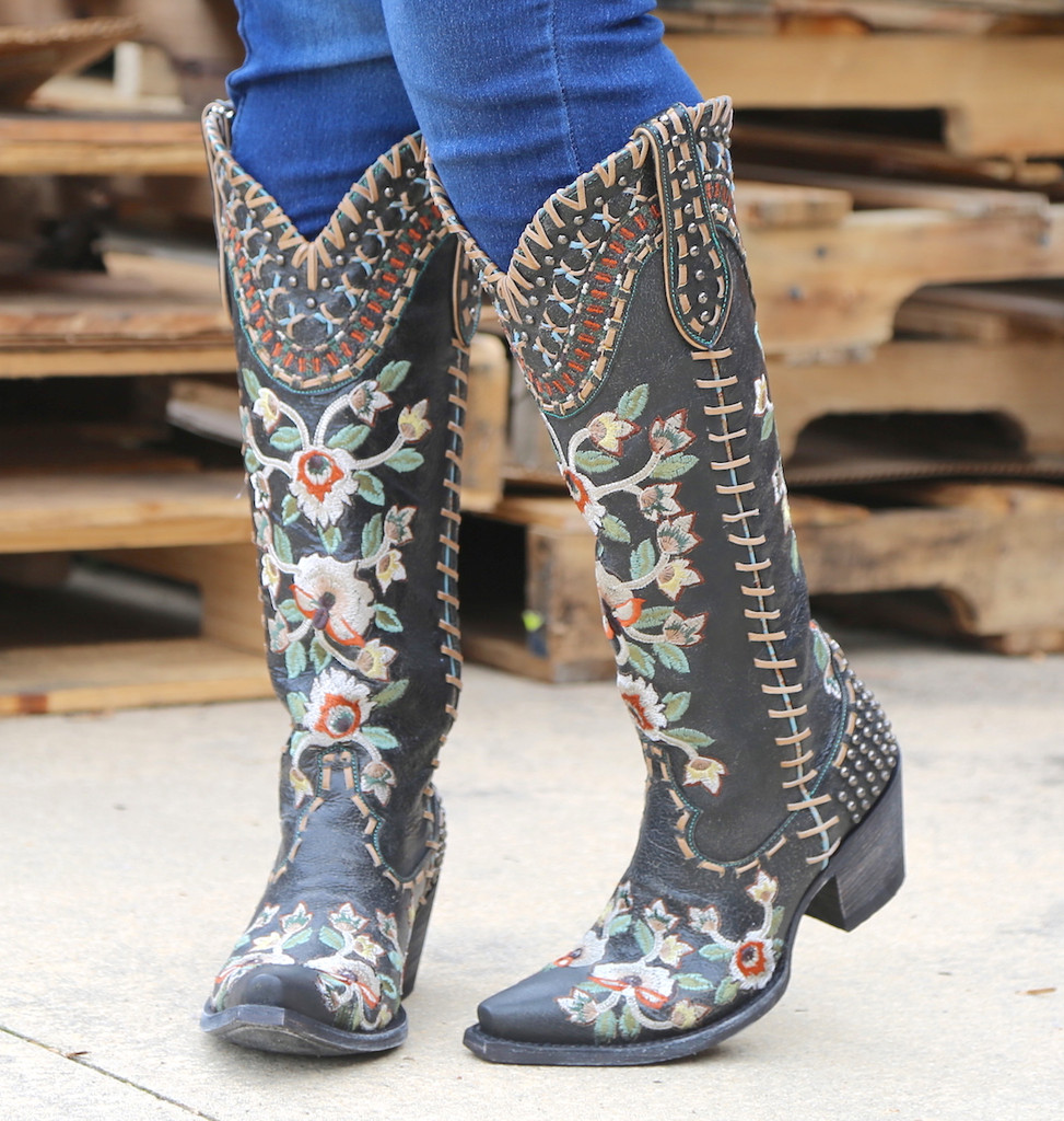 Double D by Old Gringo Almost Famous Black Boots DDL026-2 Image