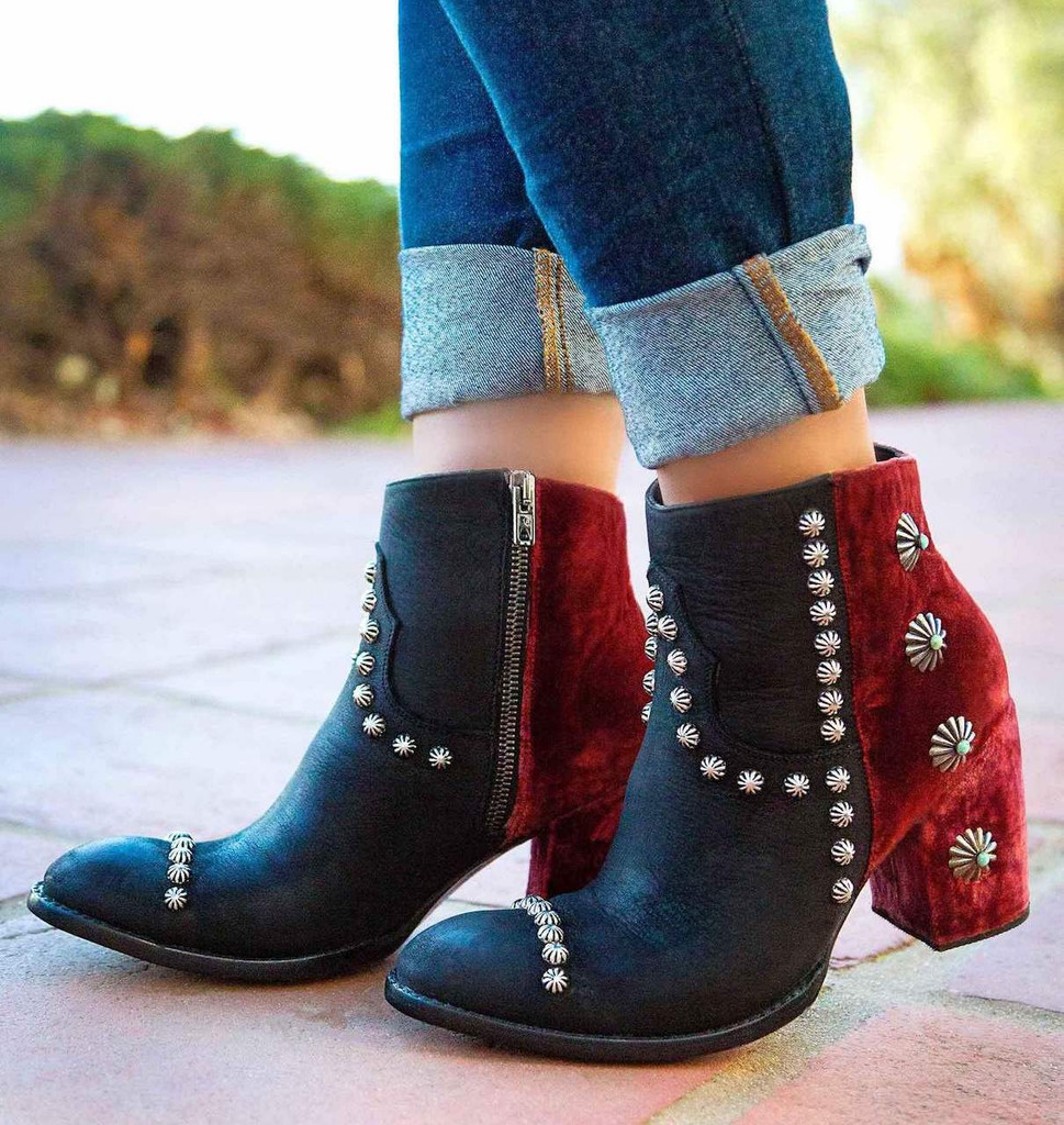 Double D by Old Gringo Tahoma Black Wine Boots DDBL006-3 Picture