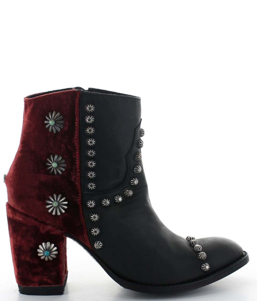 Double D by Old Gringo Tahoma Black Wine Boots DDBL006-3 Detail