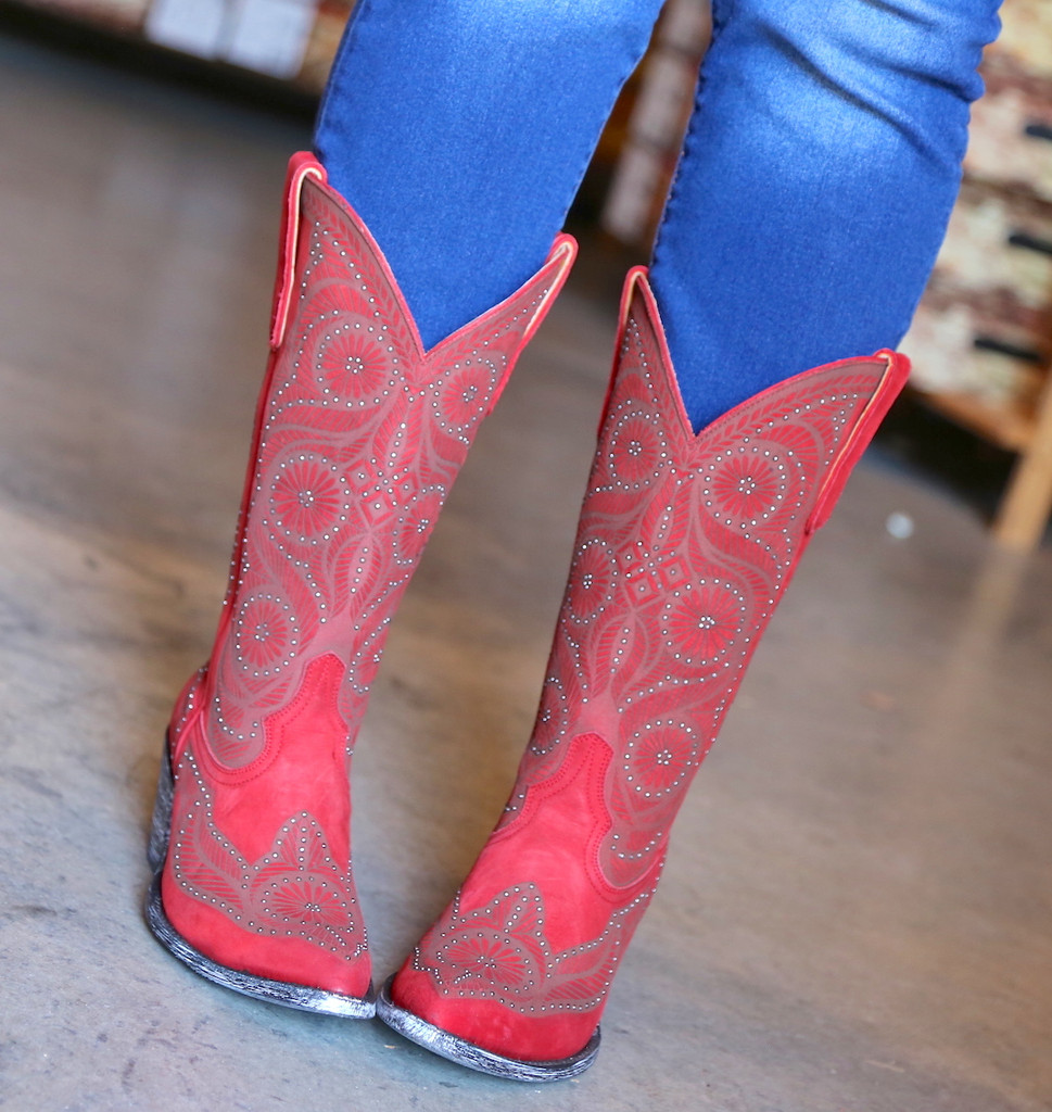 Old Gringo Valentine Red Boots L2774-2 Front