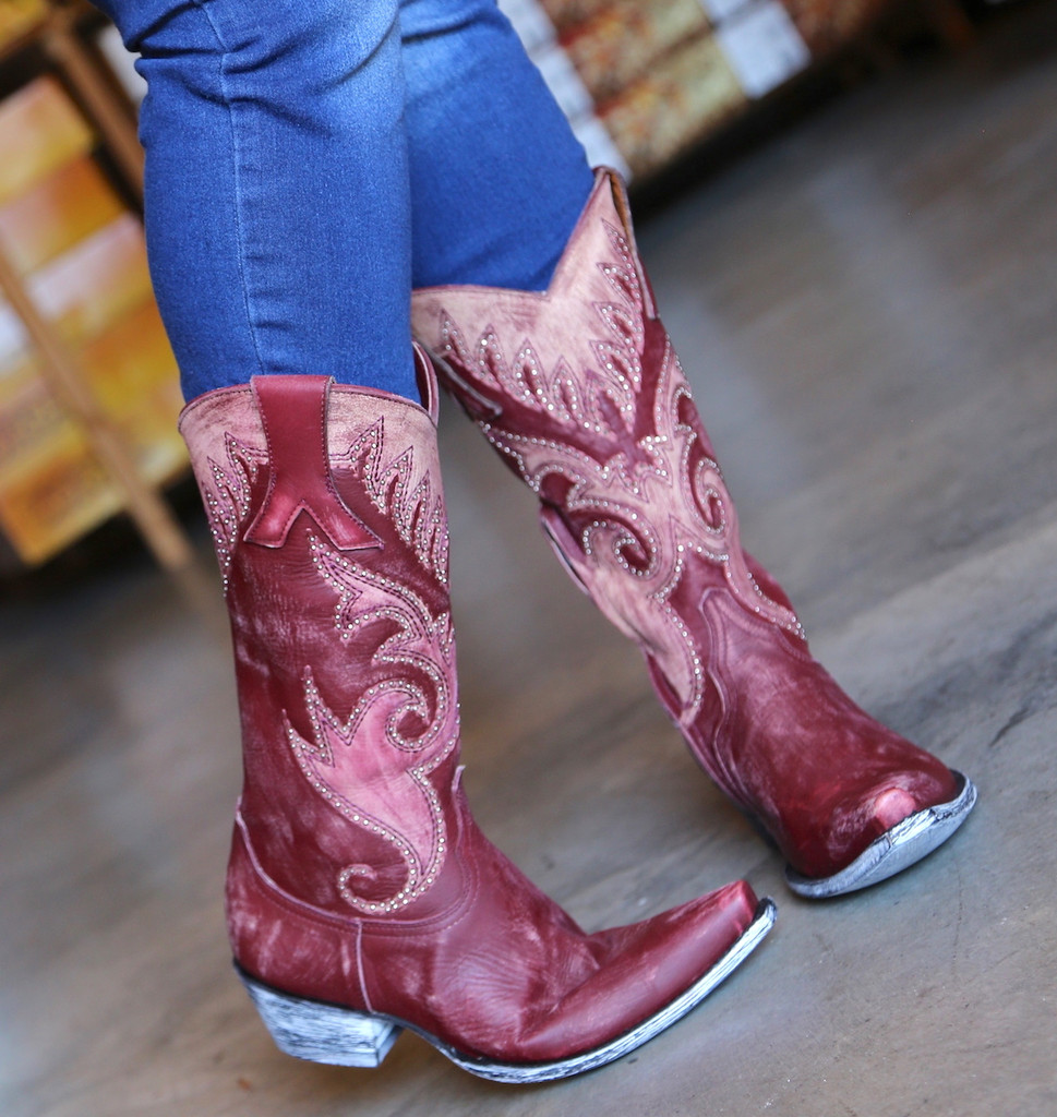 Old Gringo Marsell Rustic Wine Boots L2832-2 Image