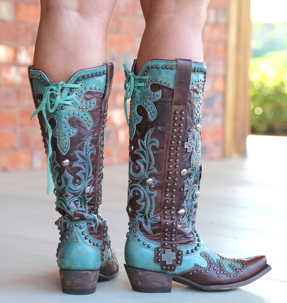 Double D by Old Gringo Ammunition Turquoise Boots DDL001-1 Heel