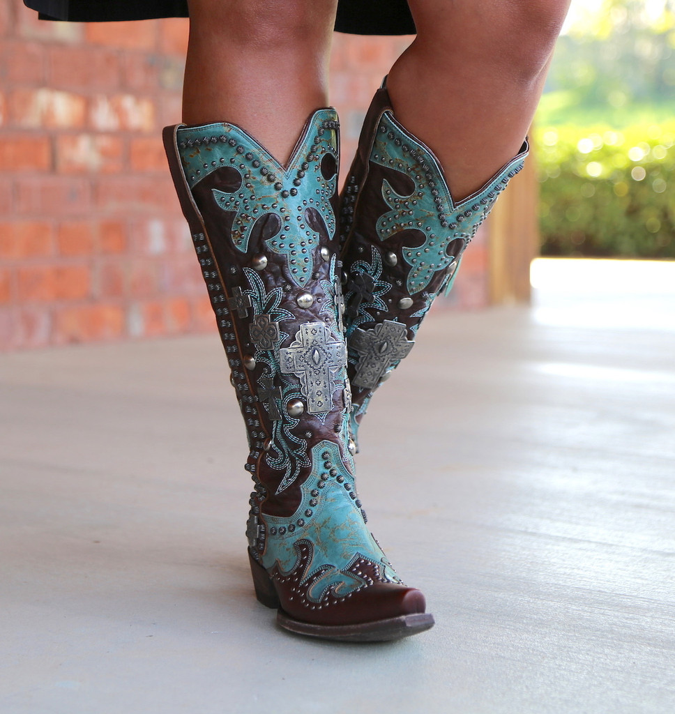 Double D by Old Gringo Ammunition Turquoise Boots DDL001-1 Image