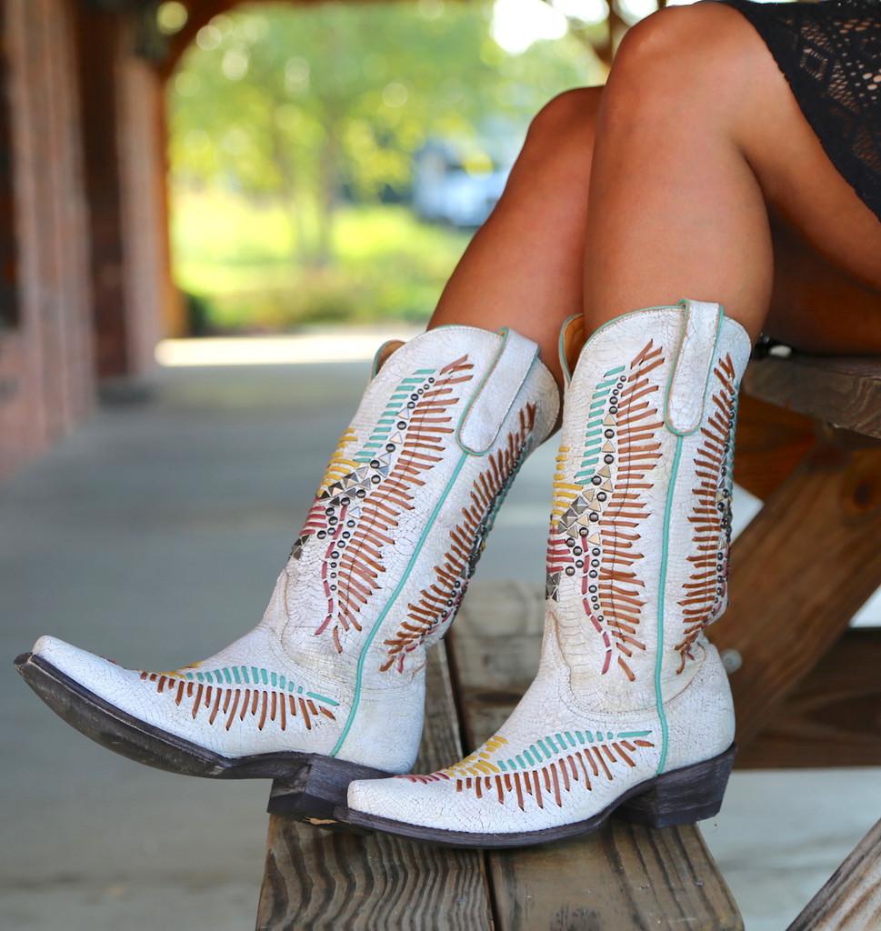 Old Gringo Harper Milk Boots L2971-2 Side