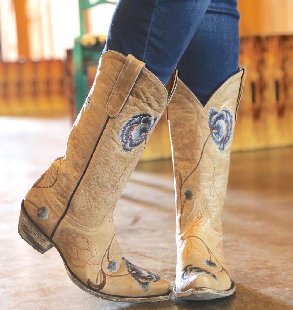 Old Gringo Marsha Bone Blue Boots L427-66 Toe