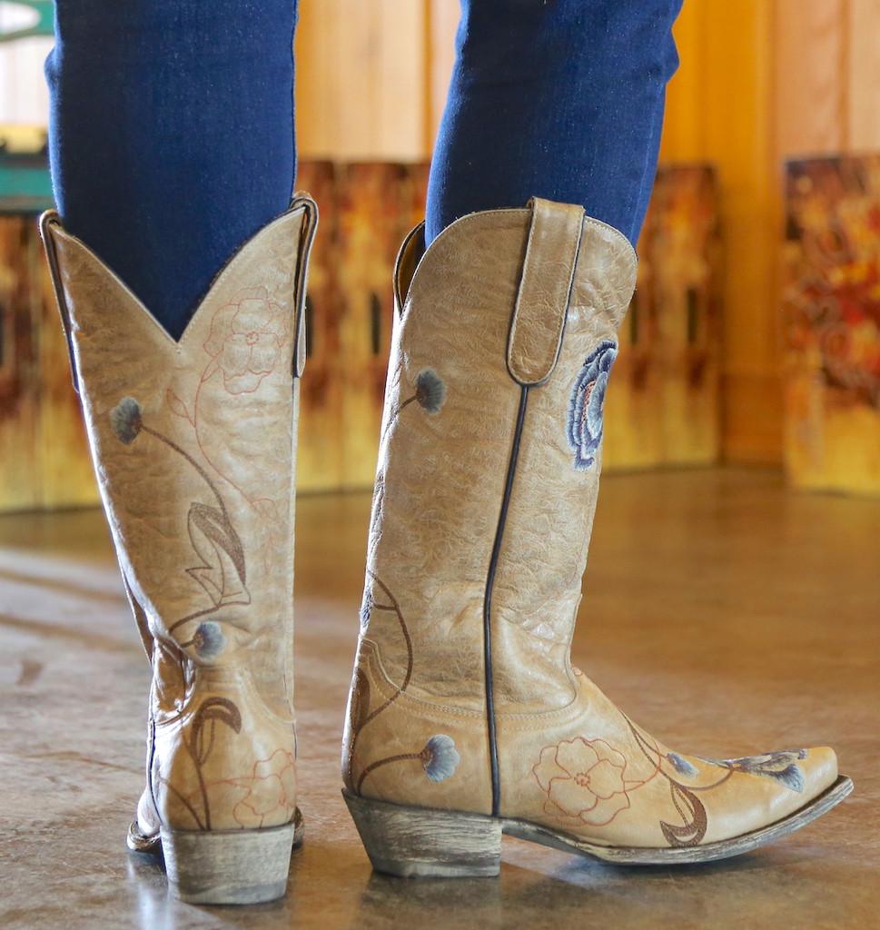 Old Gringo Marsha Bone Blue Boots L427-66 Heel