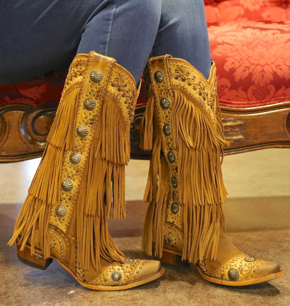Lane Wind Walker Tan Boots LB0378A Fringe