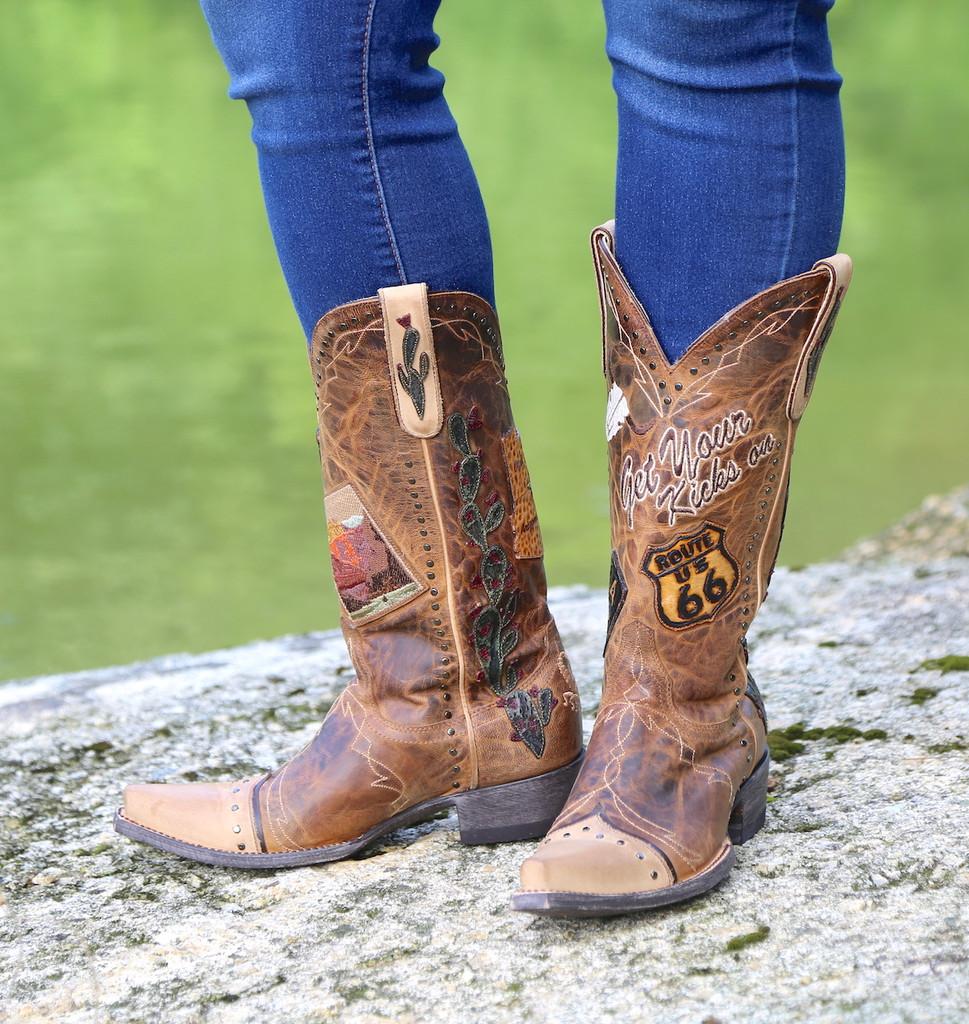 Old Gringo Route 66 Saddle Boots L3056-2 Toe