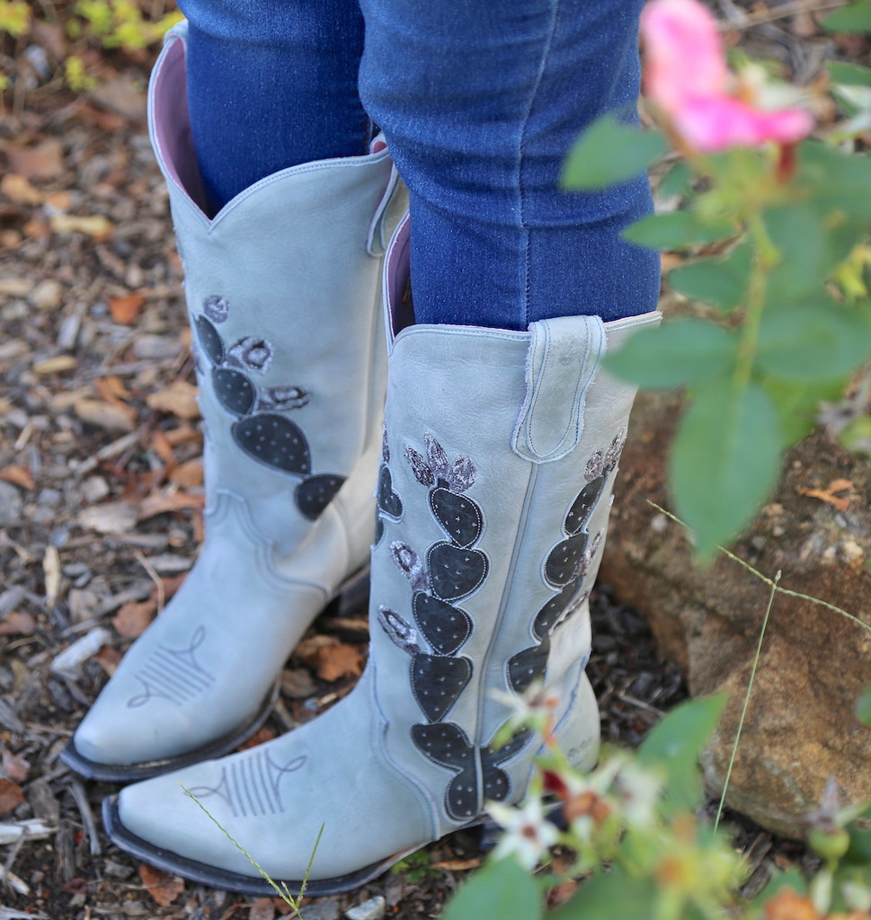 Junk Gypsy by Lane Hard To Handle Grey Cactus Boots JG0012D Picture