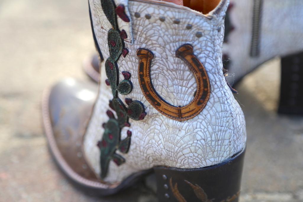 Old Gringo Galena Milk Boots BL3086-2 Horseshoe