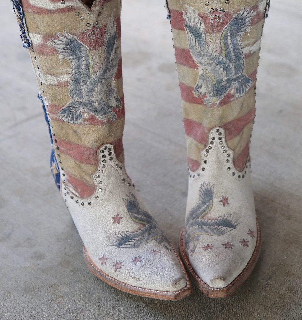 Yippee Ki Yay by Old Gringo Jorie Taupe Boots YL339-1 Eagle