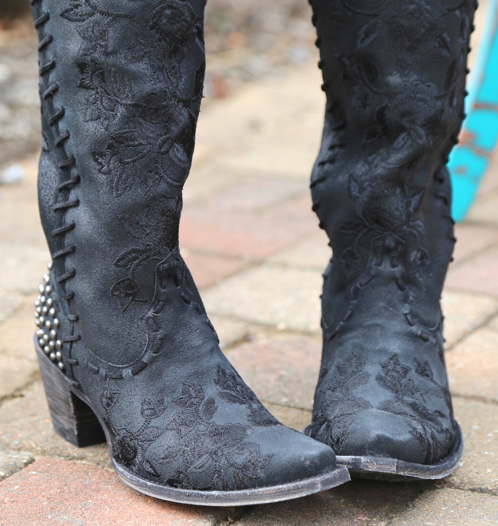 Double D by Old Gringo Almost Famous Black Boots DDL026-4 Toe