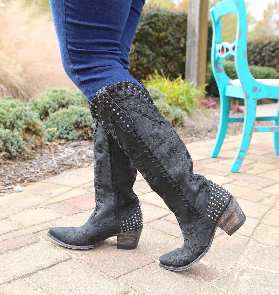 Double D by Old Gringo Almost Famous Black Boots DDL026-4 Studs