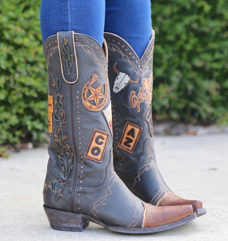 Old Gringo Route 66 Black Boots L3056-1 Picture