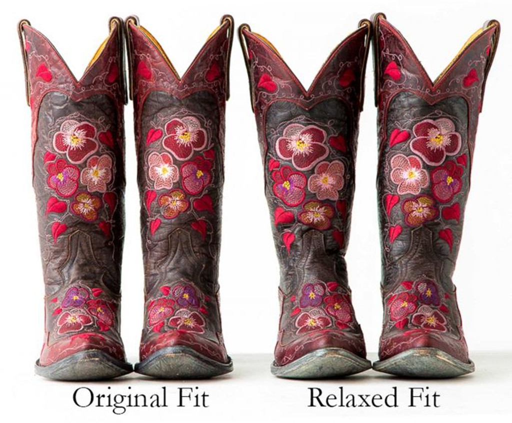 Old Gringo Pansy Chocolate Relaxed Fit Boots L2621-1 Image