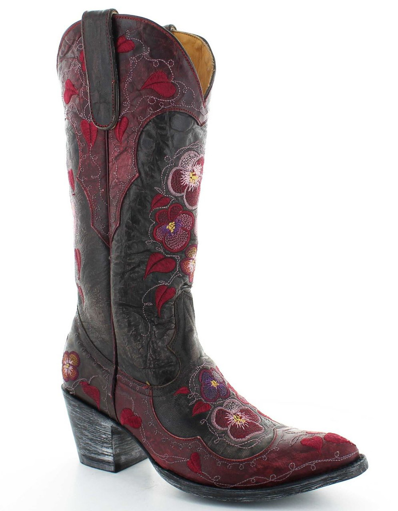 Old Gringo Pansy Chocolate Relaxed Fit Boots L2621-1 Picture