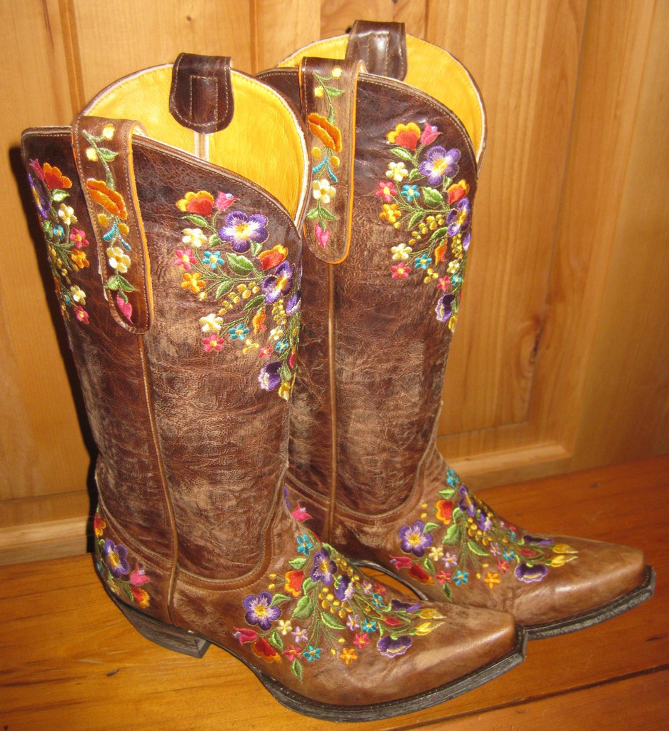 Old Gringo Sora Brass Boots L841-3 Top