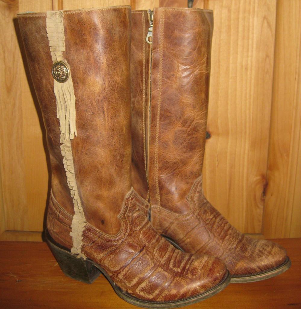 Corral Boots Vintage Cognac Deer Zipper Picture