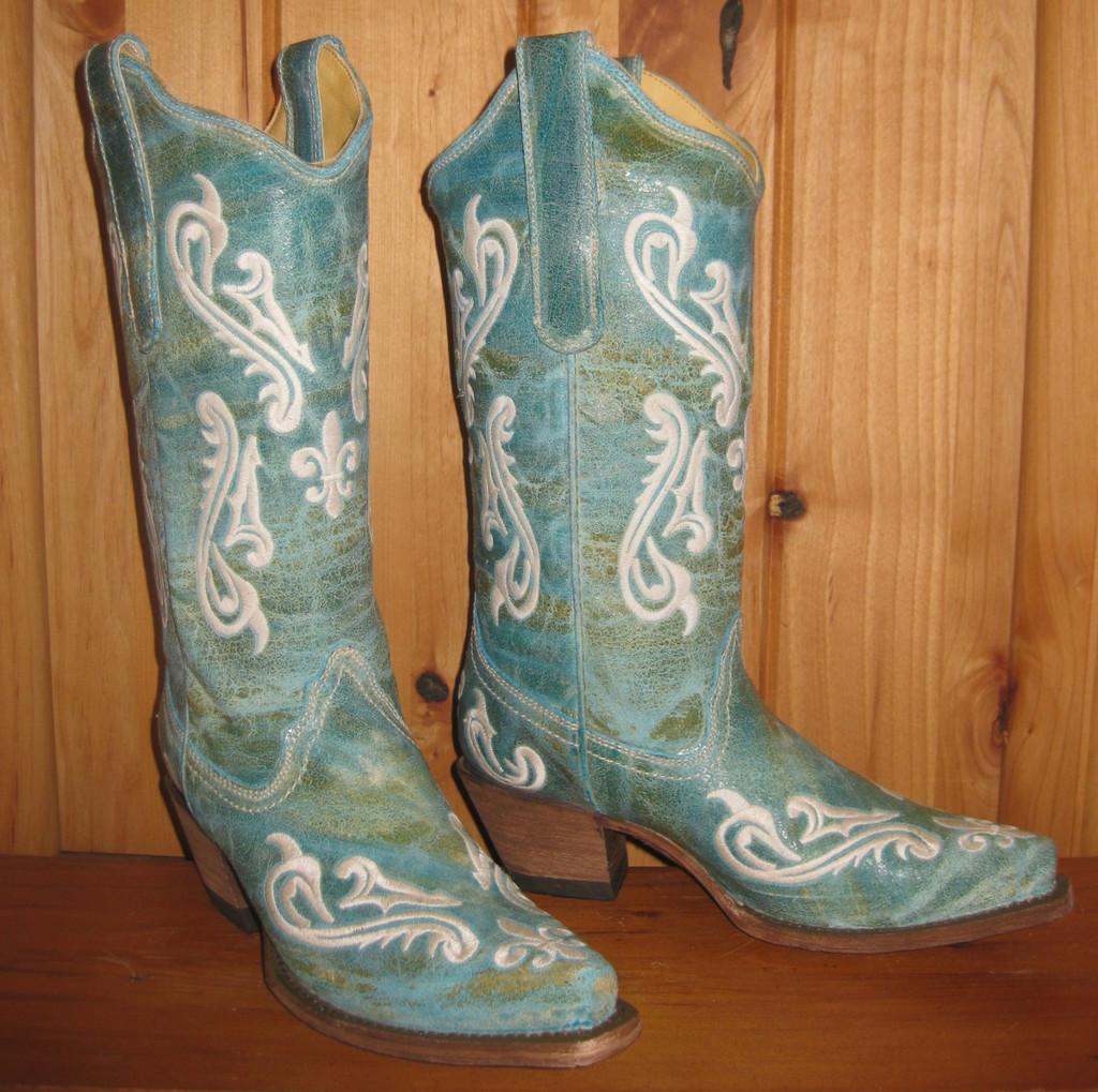 Corral Turquoise Blue Cortez Boots