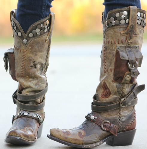 Lane for Double D Ranch Frontier Trapper Boots DD9004A