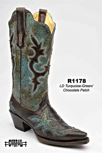Corral Turquoise Green/Chocolate Patch R1178