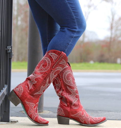 Lane Lovesick Stud Red Boots LB0199C Photo