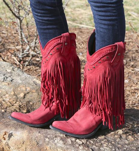 Liberty Black Vegas Fringe Boots Rojo LB71124