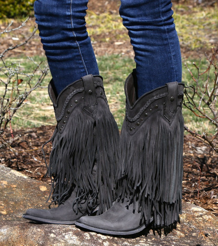 Liberty Black Vegas Fringe Boots Negro LB71124