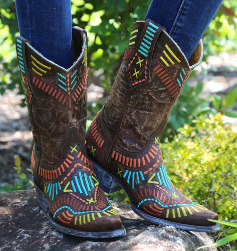 Old Gringo Apache Stitch Brass Boots L1655-1 Picture