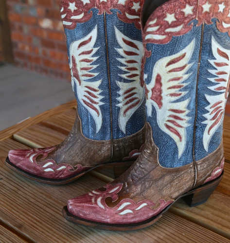 Lane for Double D Ranch Star Spangled Rodeo Boots DD9034A Eagle