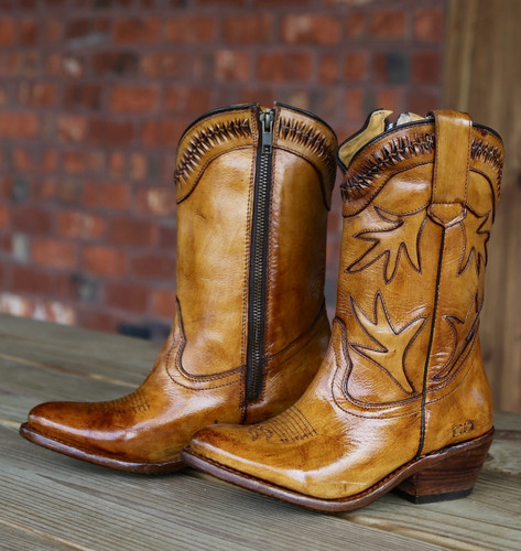 Bed Stu Lancy Tan Glaze Boots