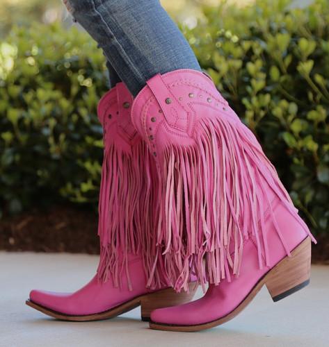 Liberty Black Vegas Fringe Boots Lipstick LB71124 Picture