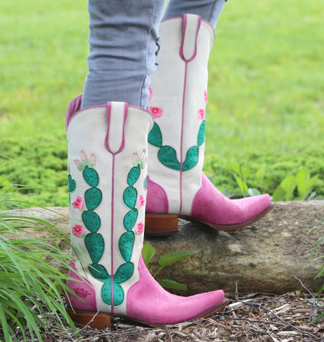 Junk Gypsy by Lane Hard to Handle Pink Boots JG0012B Picture