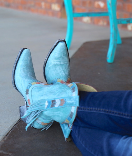 Yippee by Old Gringo Persefone Blue Boots YL230-2 Side