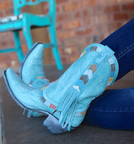 Yippee by Old Gringo Persefone Blue Boots YL230-2 Picture