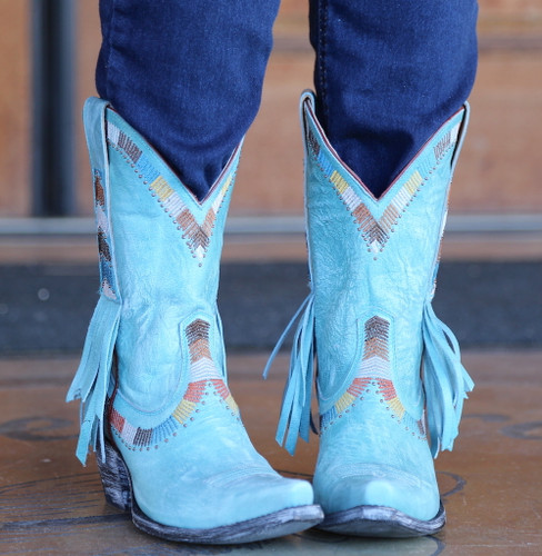 Yippee by Old Gringo Persefone Blue Boots YL230-2 Toe