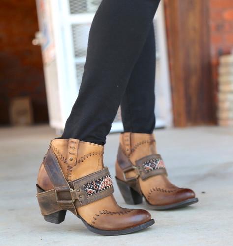 Lane for Double D Ranch Cordero Rizado Tan Boots DD9046A Side