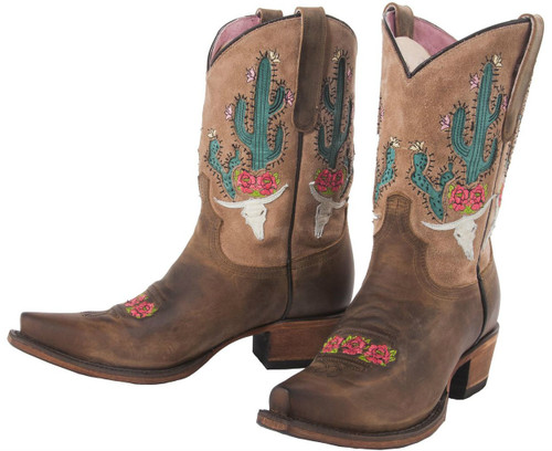 Junk Gypsy by Lane Bramble Rose Brown with Tan Suede JG0015B