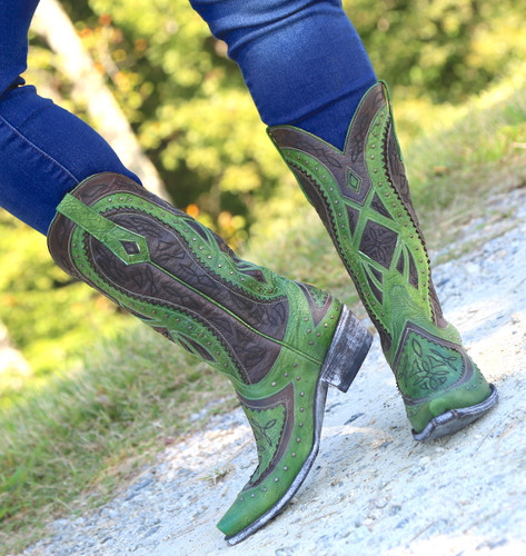 Old Gringo Urbi Green Chocolate Boots L2678-3