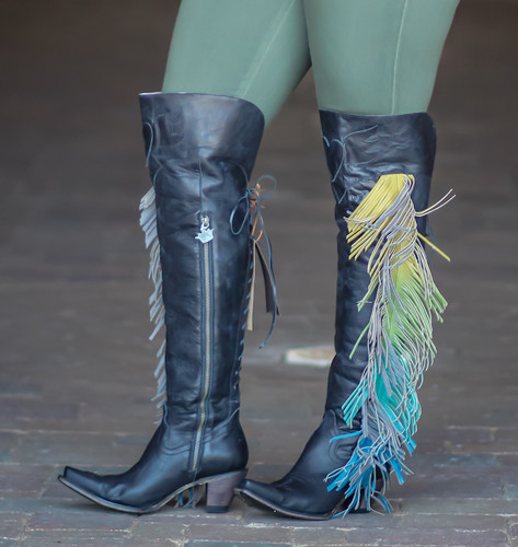 Junk Gypsy by Lane Spirit Animal Black Boots JG0022B Zipper