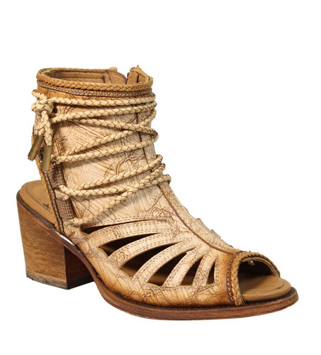 Corral Bone Lace Tall Top Sandal C3193 Picture