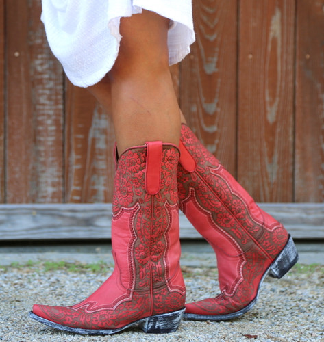 Old Gringo Rosita Pink Boots L2831-1 Picture