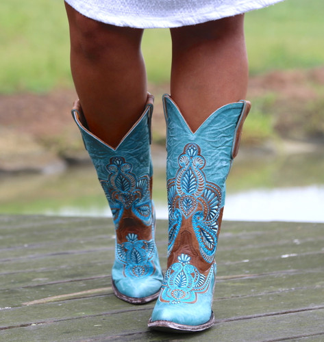 Old Gringo Bell Blue Boots L2833-1 Picture