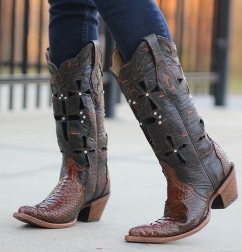 Corral Boots Musgo Python Cross