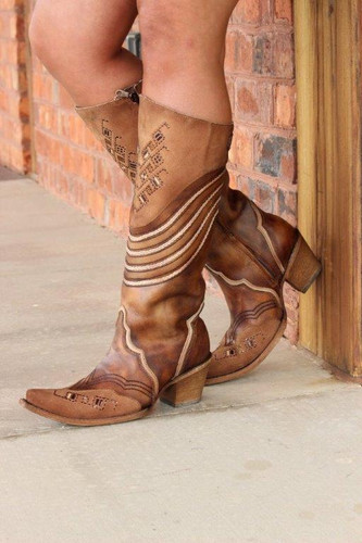 Corral Chocolate Embroidery and Swarovsky Boots C3206 Side Picture
