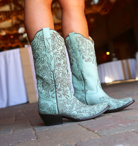 Corral Turquoise Embroidery Boot G1387 Picture