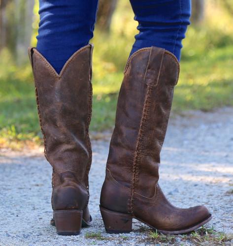 Lane Plain Jane Brown Boots LB0350A Heel